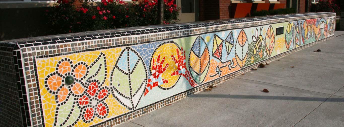 Dự án tranh ghép mosaic gốm Bát Tràng thủ công trang trí trong biệt thự, sân vườn, nhà hàng, khách sạn